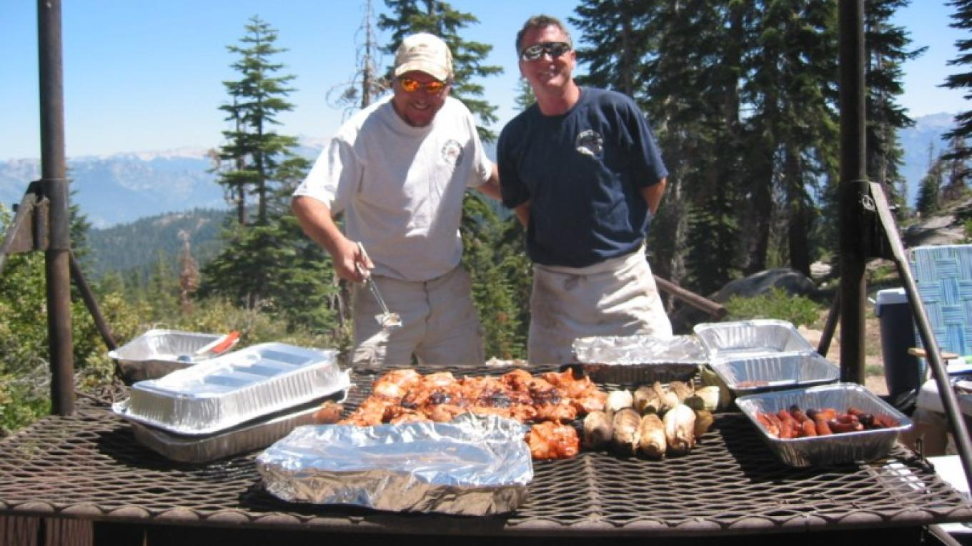 Volunteers serving up the barbeque during the annual Buck Rock Open House – Wendy Garton