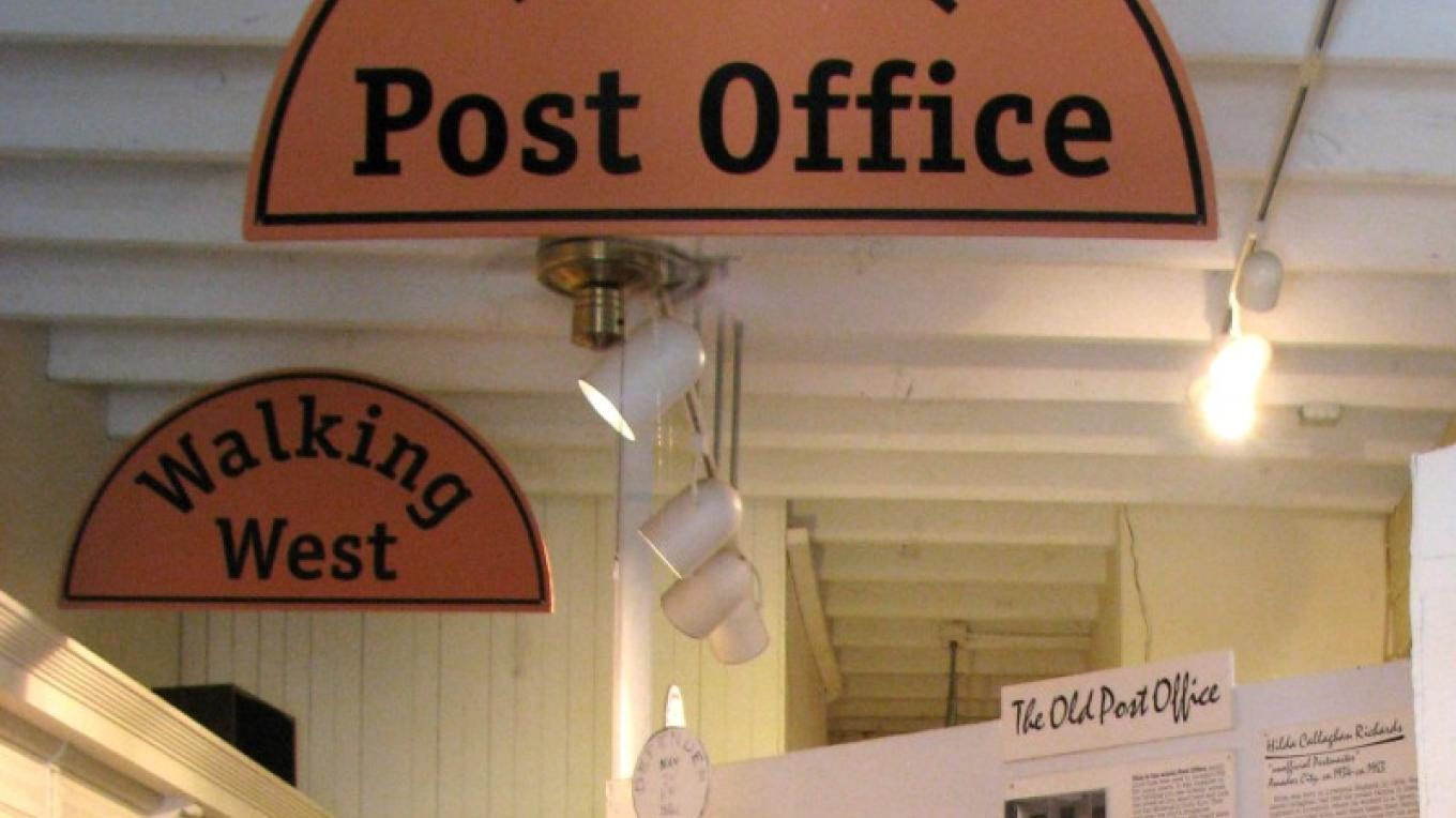 The Post Office exhibit features authentic post boxes. – Karrie Lindsay