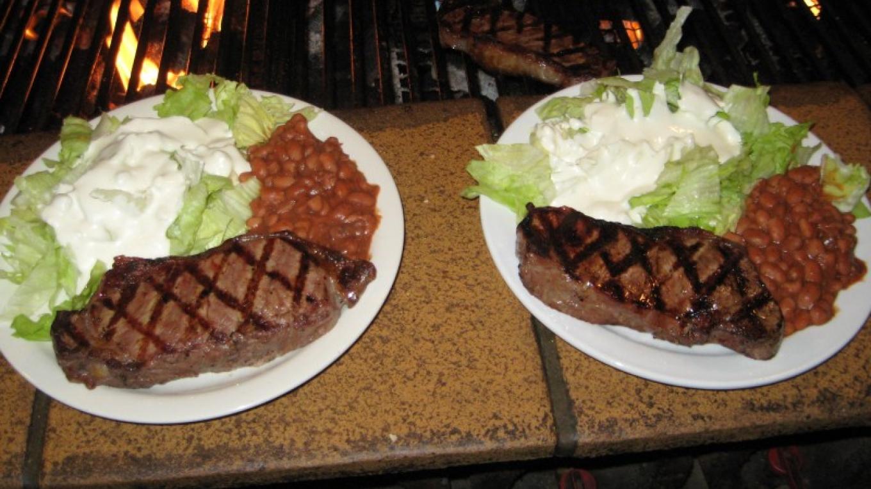 choice aged new york steaks – michael byrne