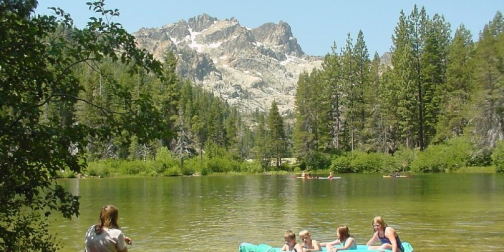 Recreationists at Sand Pond, Near Sierra Buttes, Sierra County