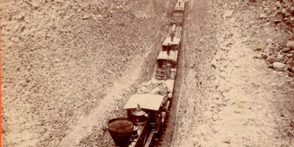 Train Passing Through Bloomer Cut – Unknown