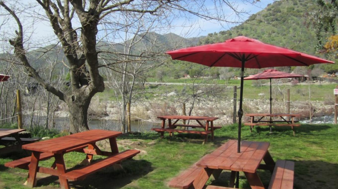 Enjoy your lunch at our picnic tables overlooking the Kaweah River! – Dane Millner