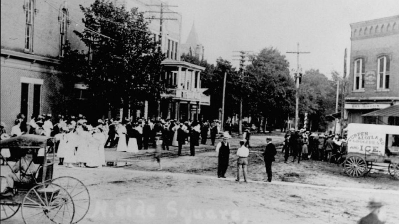 Downtown Plymouth early 1900s – HuronCountyLibrary.org