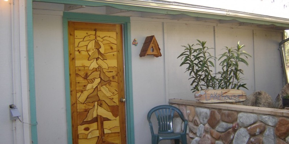 Entry Doors done by a local artist, Red Bud – Carla Thorn