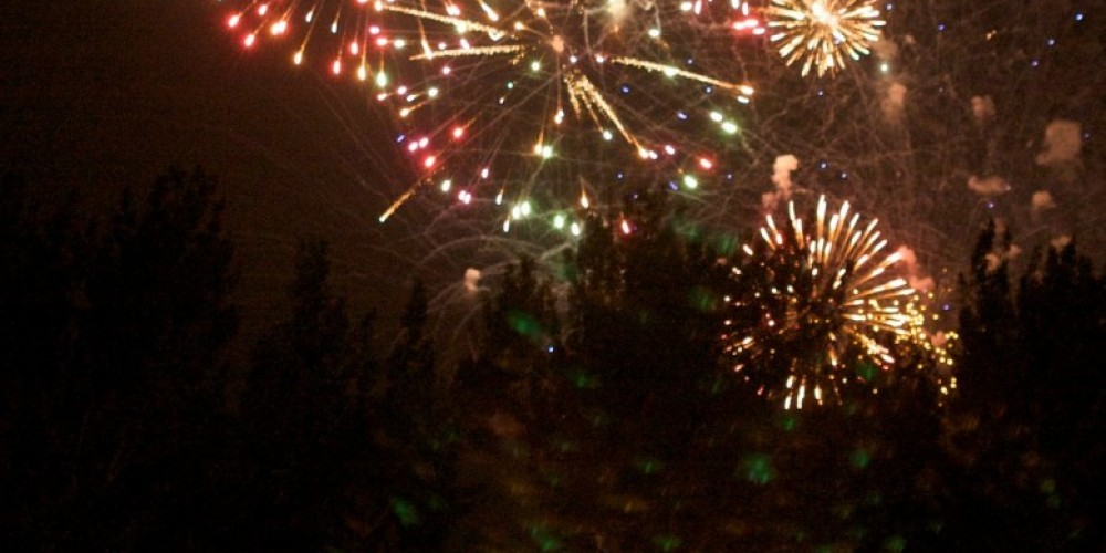 Fireworks over courthouse – Aaron Noble