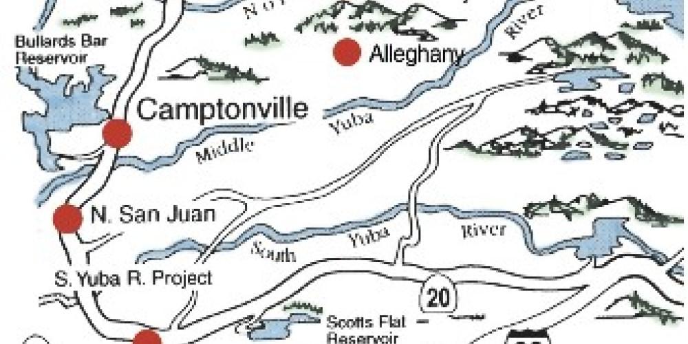 Yuba River Map – Illustration