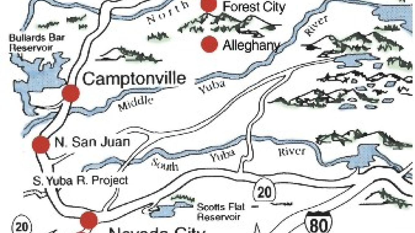 Yuba River Map – Illustration