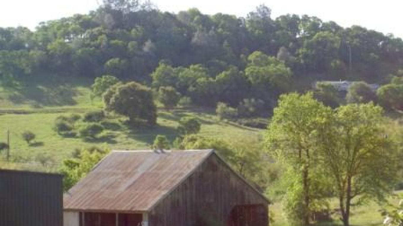 Old California-style barn on Newcastle Produce's own Twin Brooks Farm where much of the store's produce is grown. – Jan Thompson