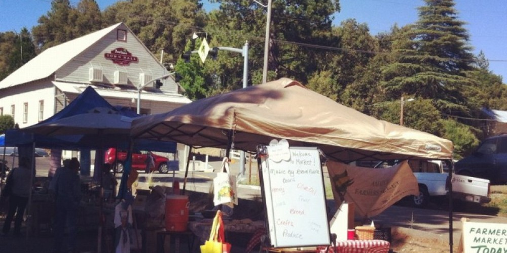 Local vendors take to the streets at the Pine Grove Farmers Market every summer to sell fresh seasonal produce, flowers and locally made items. – Amador County Farmers Market Association