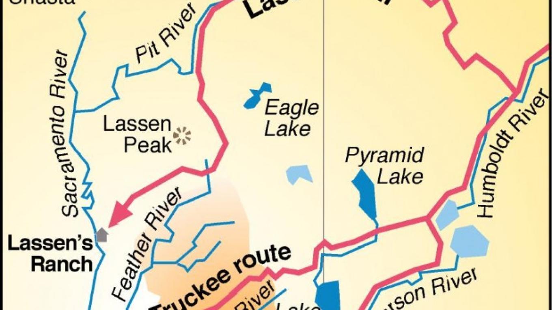 Lassen Trail Map – Steve Schoonover