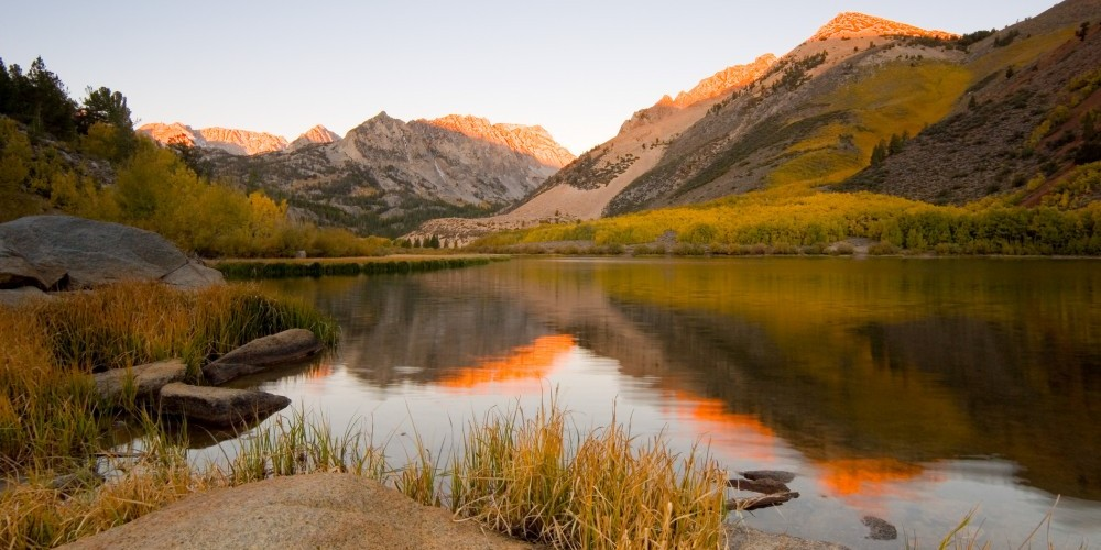 South Lake at sunrise.