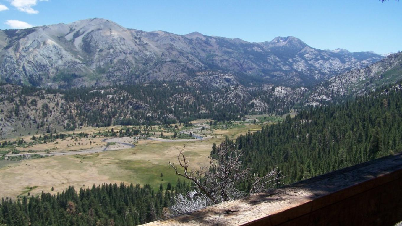 A view  from Leavitt Falls Vista Platform in July – Sandy Gordon