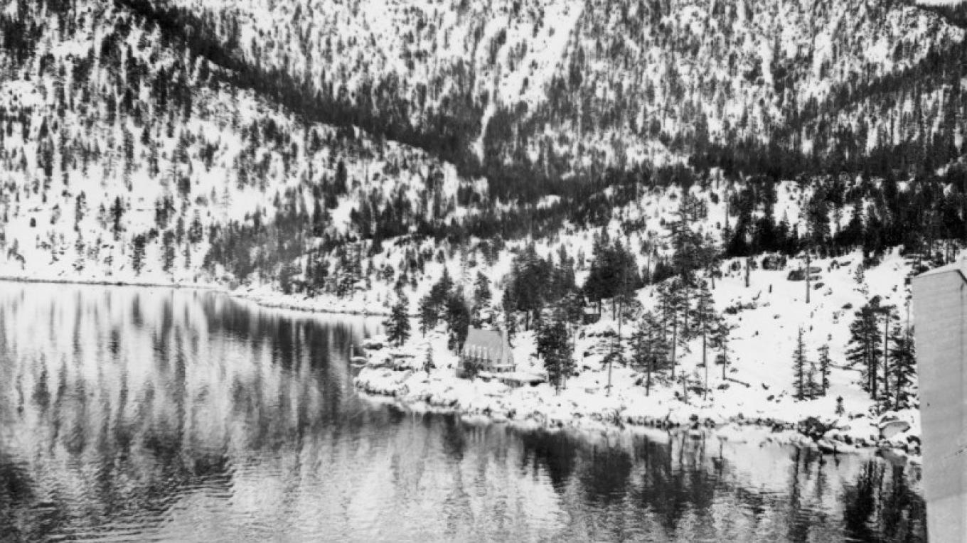 Historic Aerial View of Thunderbird Lodge circa 1937