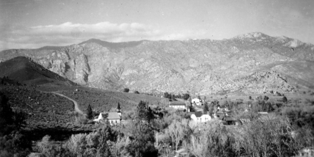 Old Kernville, circa, 1940's looking North, Methodist Church in foreground. – unknown
