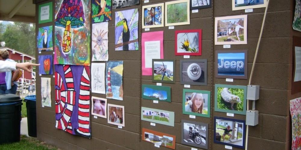 Children's art exhibit at the Redbud Festival – Judy Smith