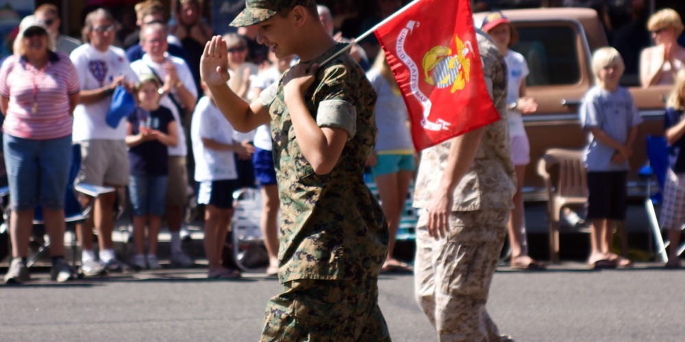 Bridgeport\'s Alex marches with Marines in 4th of July parade – Aaron Noble