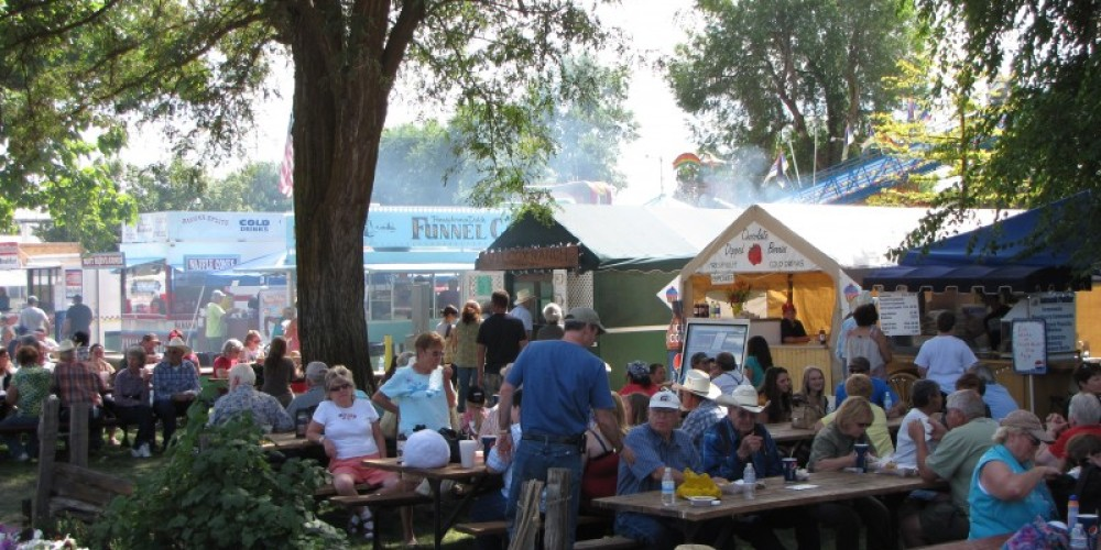 Local vendors offer a wide variety of food at the Inter-Mountain Fair. – Ben Miles