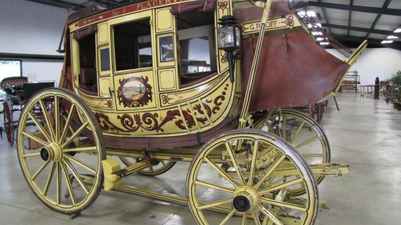 One of the many exquisite wagons from the great California Gold Rush found in the Angels Camp Museum – calaverasenterprise.com Ann Mazzaferro