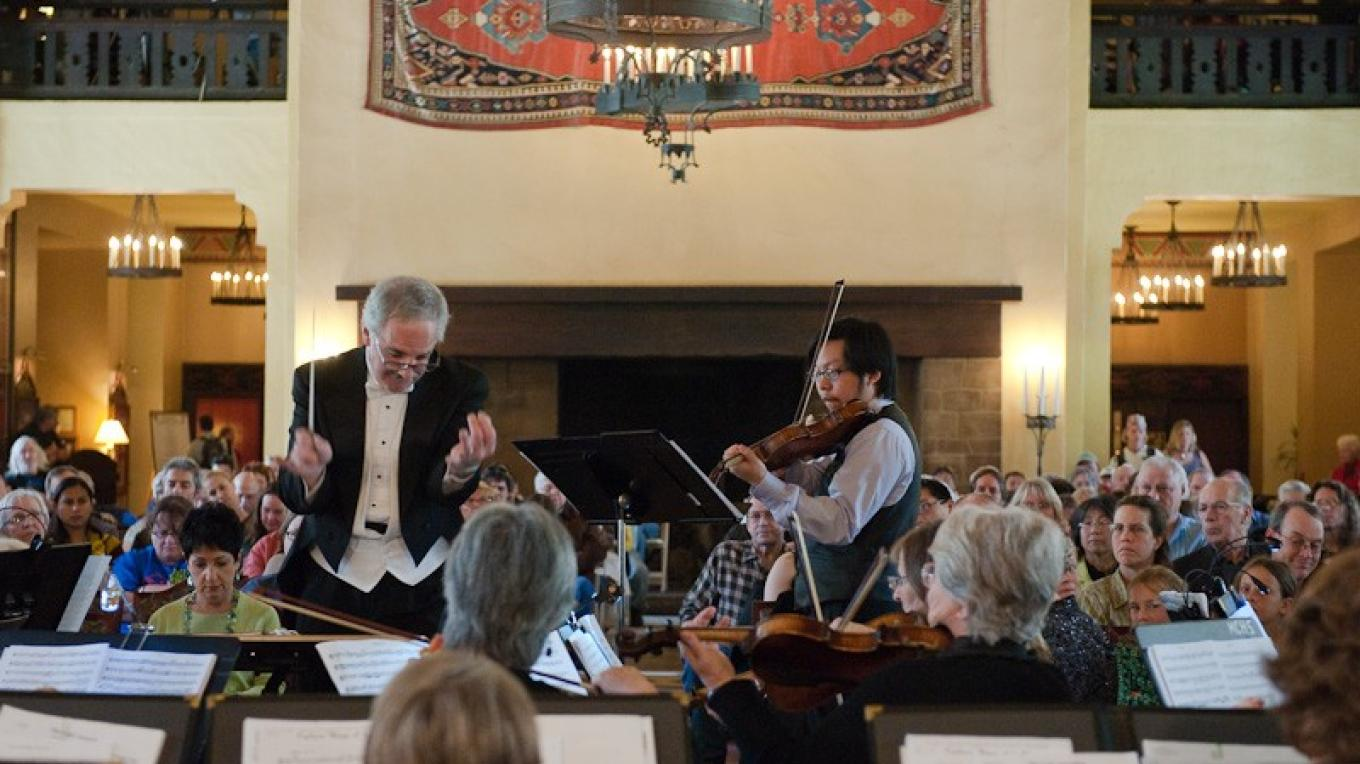 April 26, 2009 Concert of the MSO featuring New York Virtuoso Violinist Lewis Wong with Conductor Les Marsden in the Ahwahnee Hotel – Brent Gilstrap