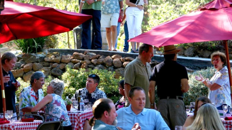 PEAKers enjoy tasting on the terraces – Lynn Wilson