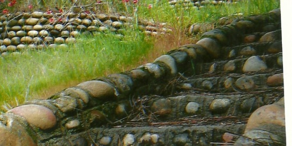 River rock steps is all that remain of homestead at Kerckhoff Lake Powerhouse #2 – Susan Leeper