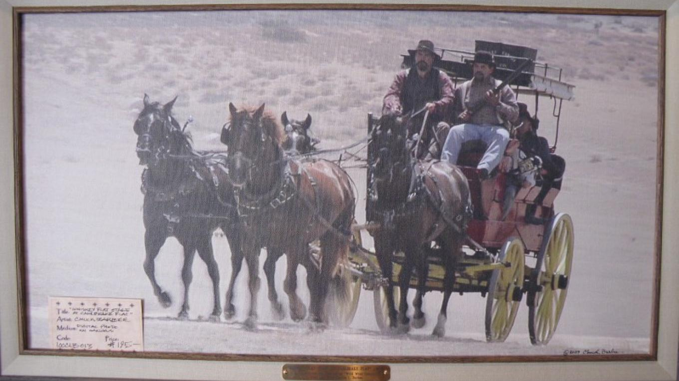 """""""Whiskey Flat Stage at Canebrake Flat"""" Chuck Barbee Digital Photo on Canvas – Charles Topping"""