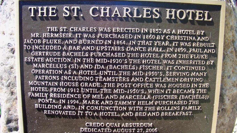St. Charles Hotel Historical Marker – Frank Sanchez