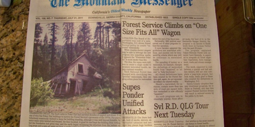Front page, July 21, 2011 edition – Lee Adams