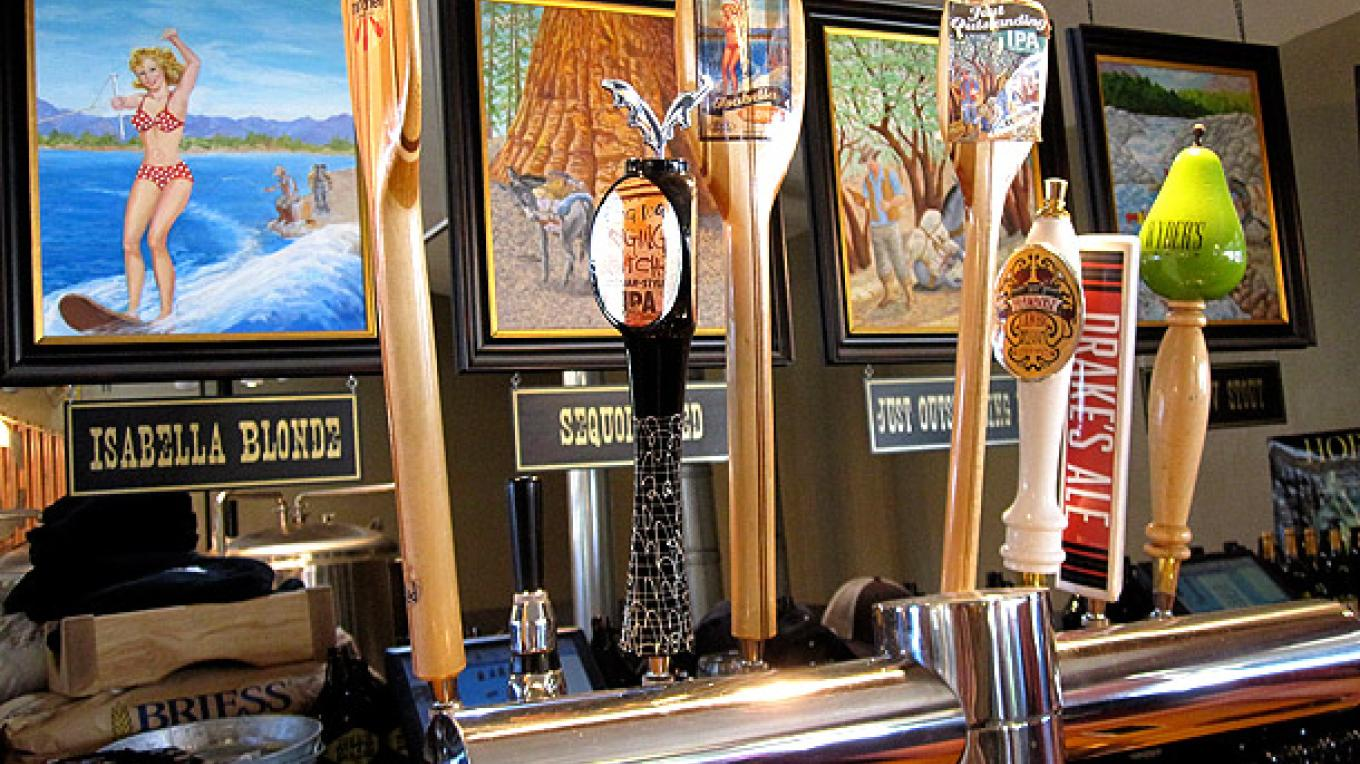 Kern River Brewing Company's beers on tap – DrinkEatTravel.com