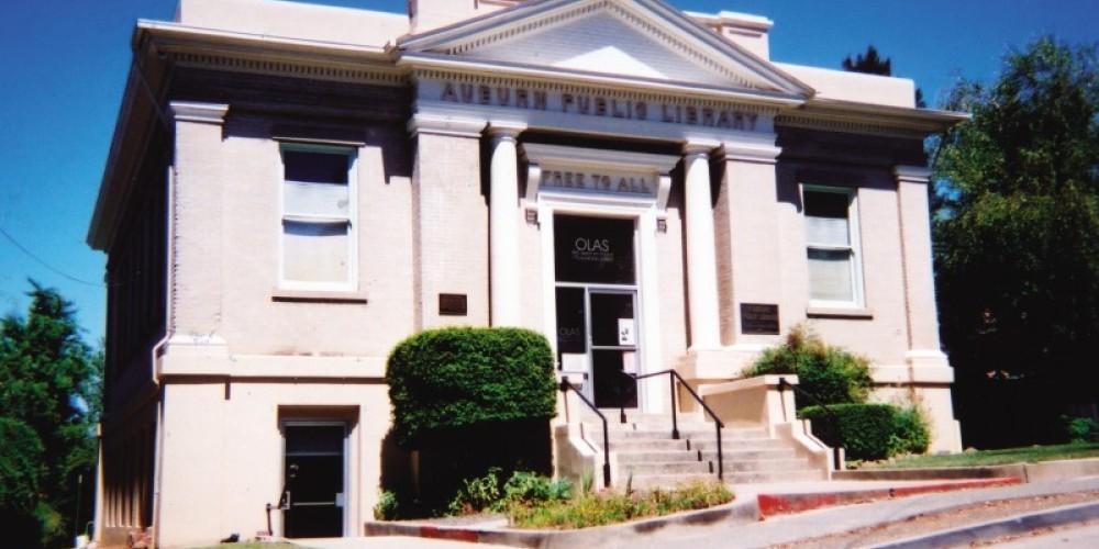 OLAS at the historic Carnegie Library, 175 Almond Street, Auburn, CA.