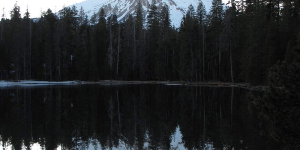 Summit Lake reflecting the top of Lassen. – Ben Miles