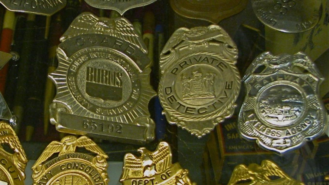 A fine assortment of genuine badges are on display. – Karrie Lindsay