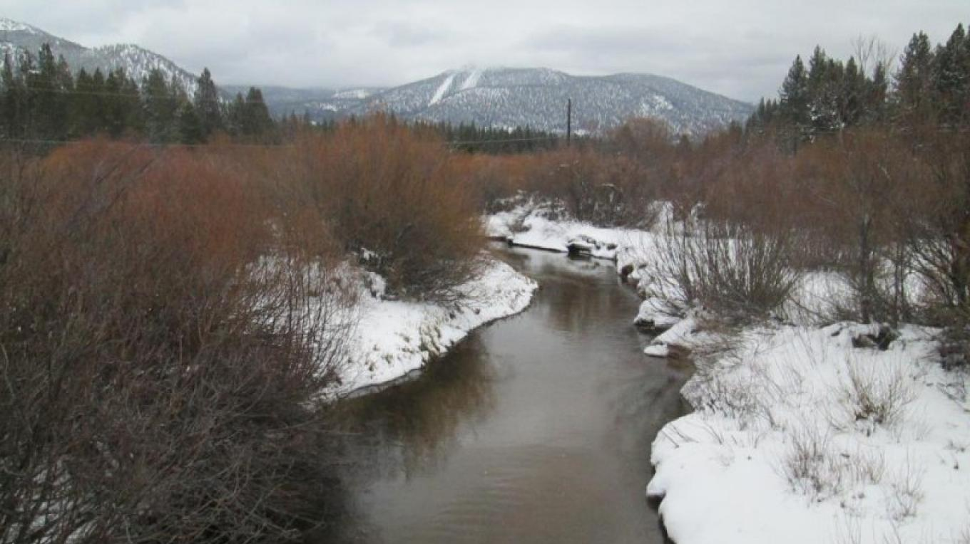 Trout Creek in winter, courtesy of StayInTahoe.com – stayintahoe.com