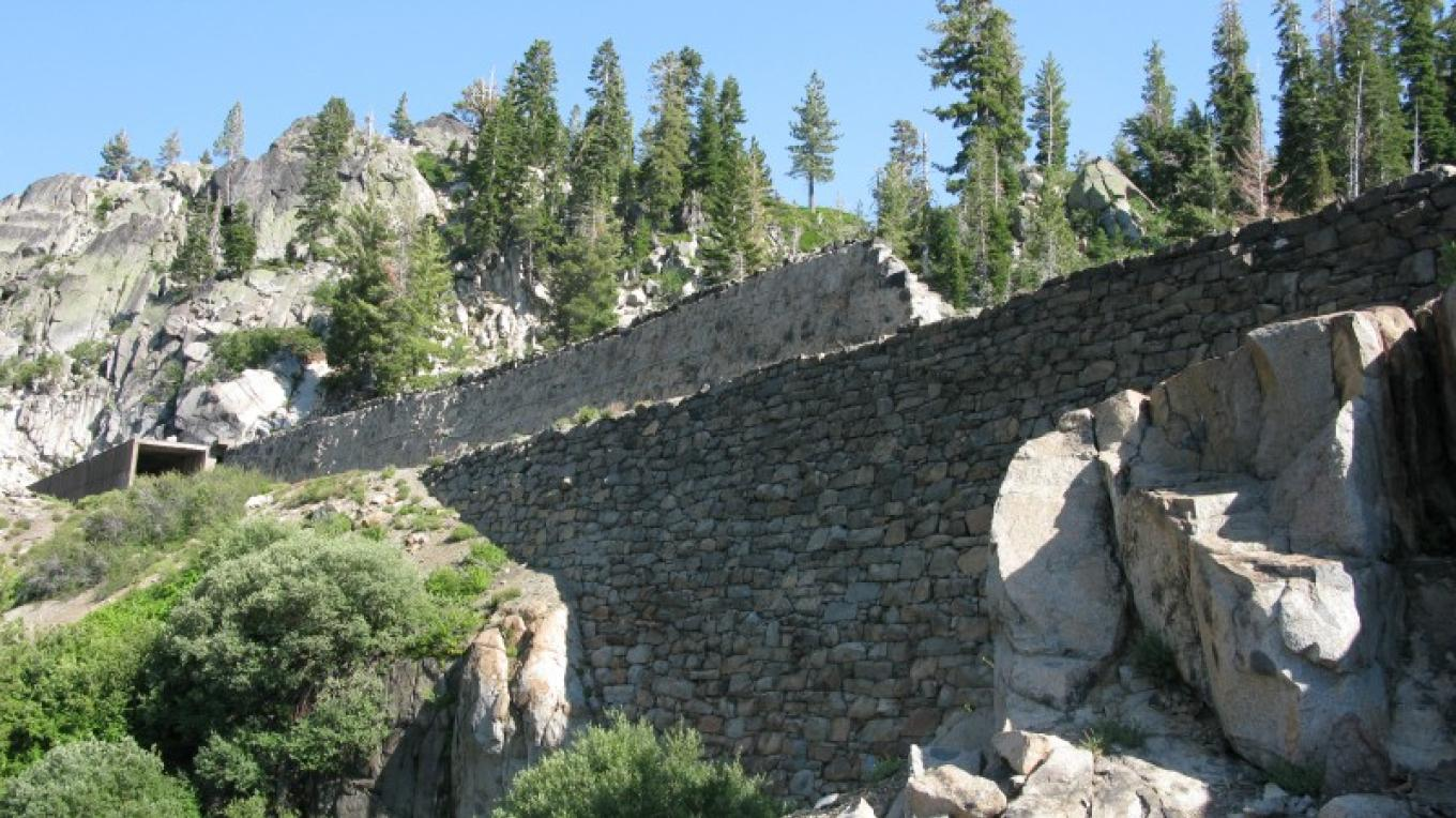 Central Pacific Railroad, China Wall built by Chinese laborers in the 1860's at the Sierra Crest – Linda Chaplin
