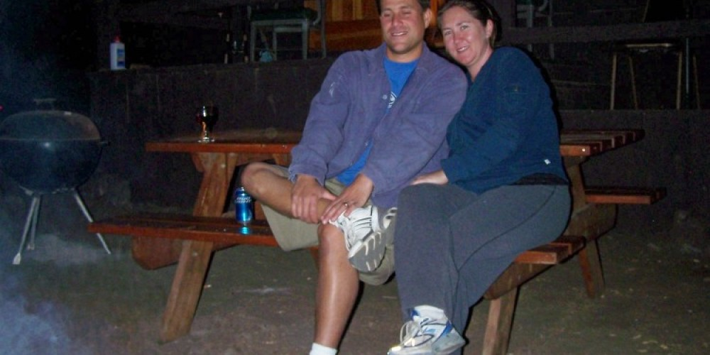 A romantic evening around the campfire at the cabin. – Sandy Gordon