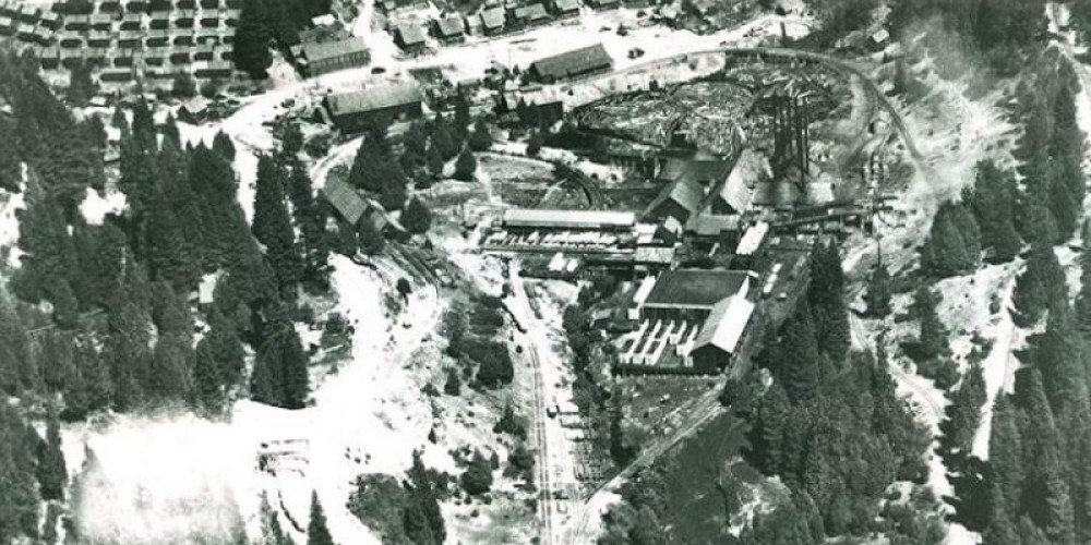 Aerial view of Pino Grande. – Photos courtesy Library of Congress and Calif State Library