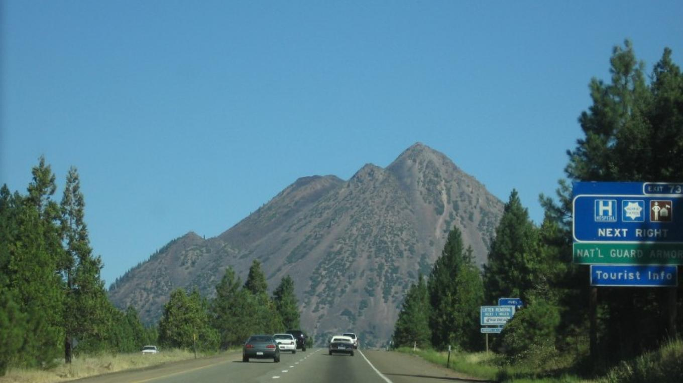 Black Butte, a plug dome, located near Mount Shasta. – photo by Suzanne Scull