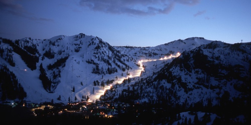 Night skiing at Squaw Valley. – Tom Day
