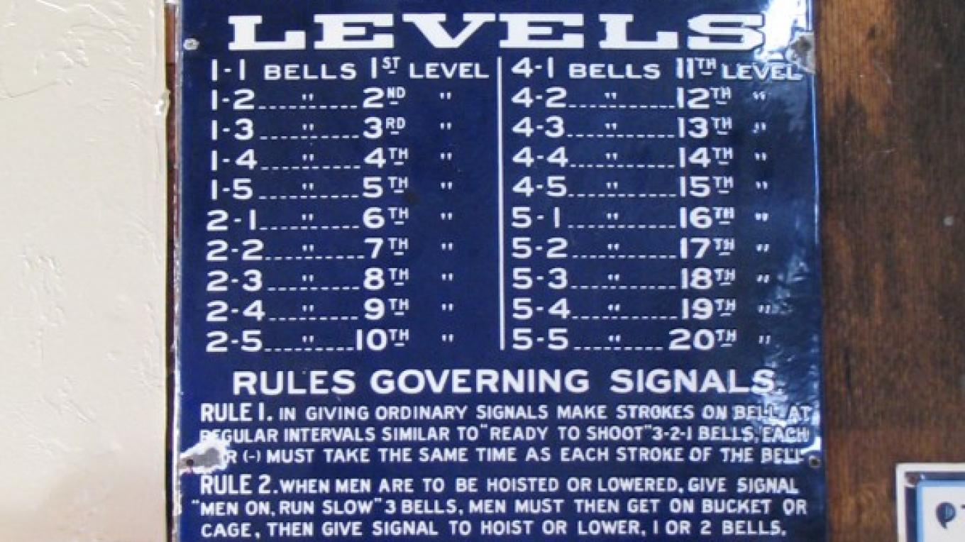 The communication system was based on a series of bell sounds. This is an ORIGINAL sign! – Karrie Lindsay