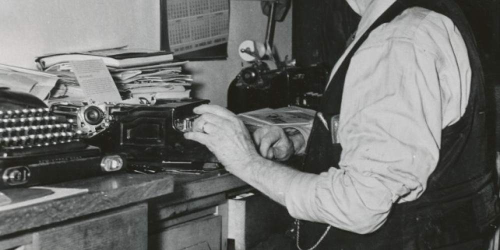 """Legendary newspaper publisher and editor W.A. Chalfant documented Inyo County\'s history, in his classic, \""""The Story of Inyo,\"""" an example of the many local and regional books available at the Museum Bookstore."""