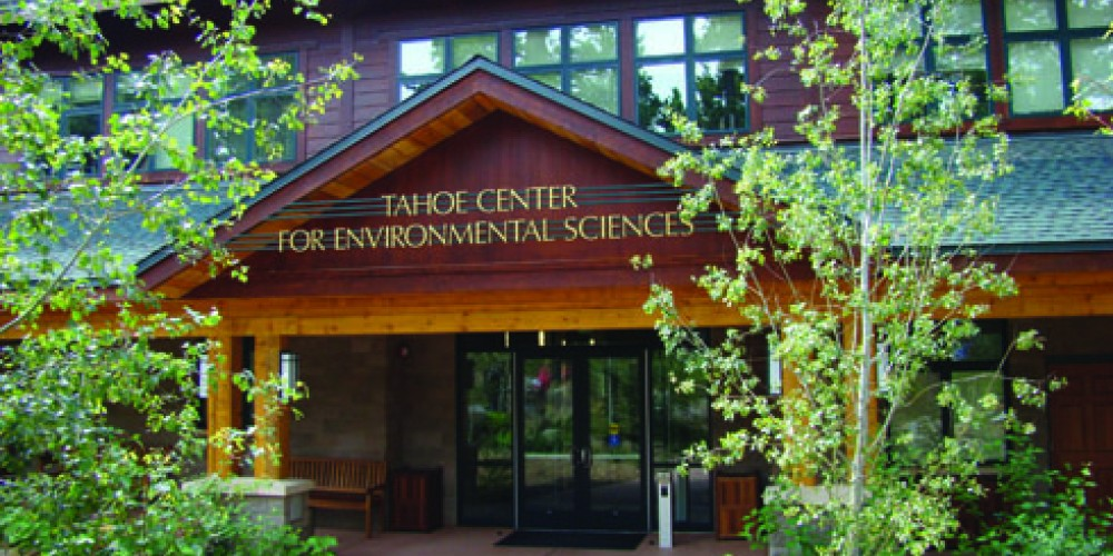 Front entrance of the Tahoe Center for Environmental Sciences – Heather Segale