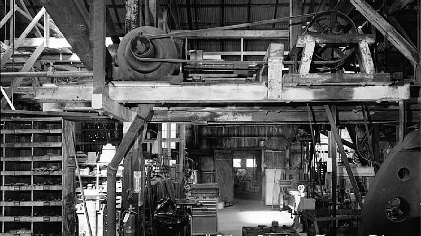 One view of the Interior of Knight Foundry now closed