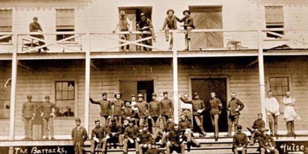 Enlisted barracks, circa 1890. – California State Military Department