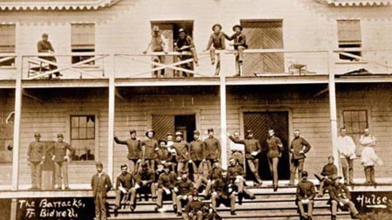 Enlisted barracks, circa 1890. – California State Military Department