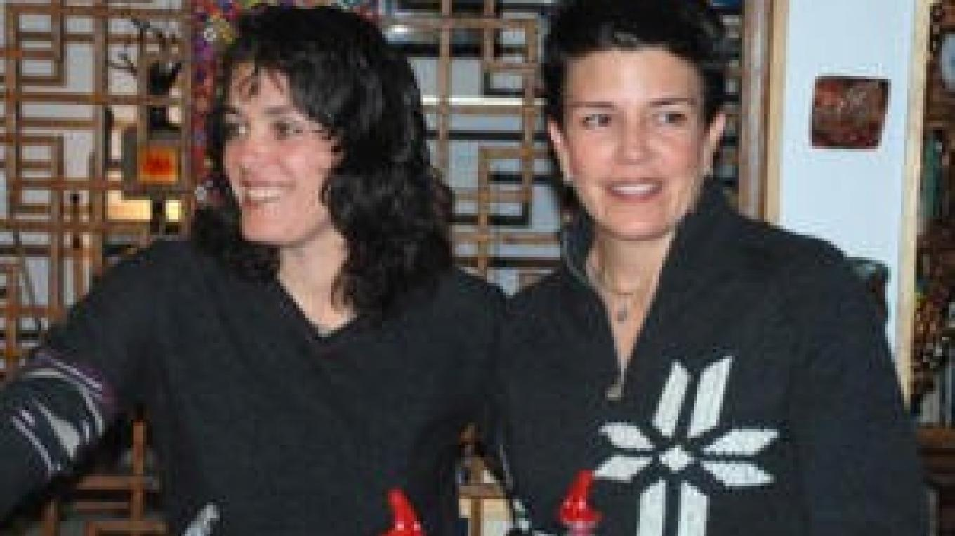 Wine proprietors, from left, Anna Marie dos Remedios and Deb Payne 