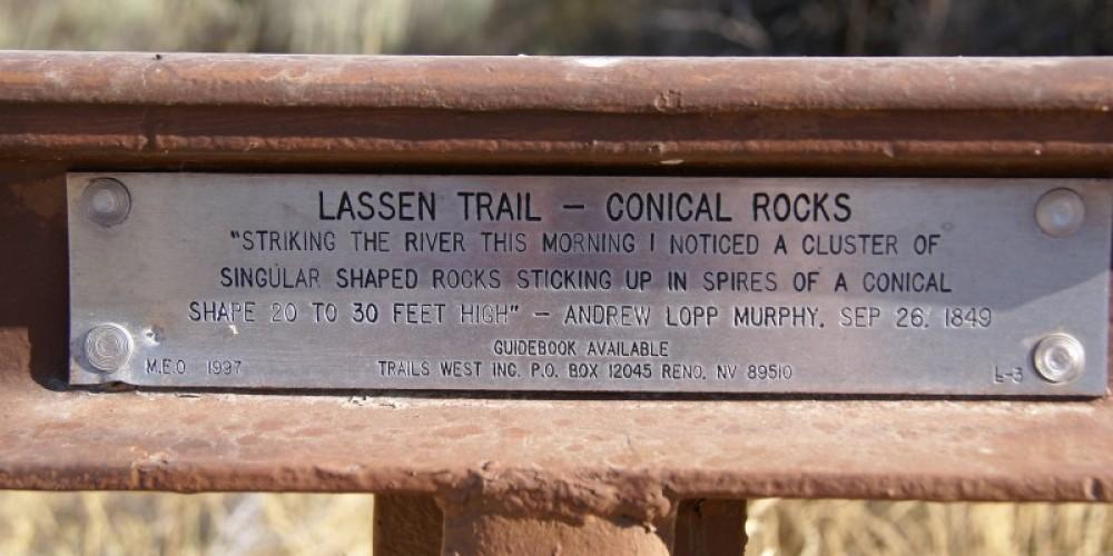 Lassen Trail marker. – Lorissa Soriano