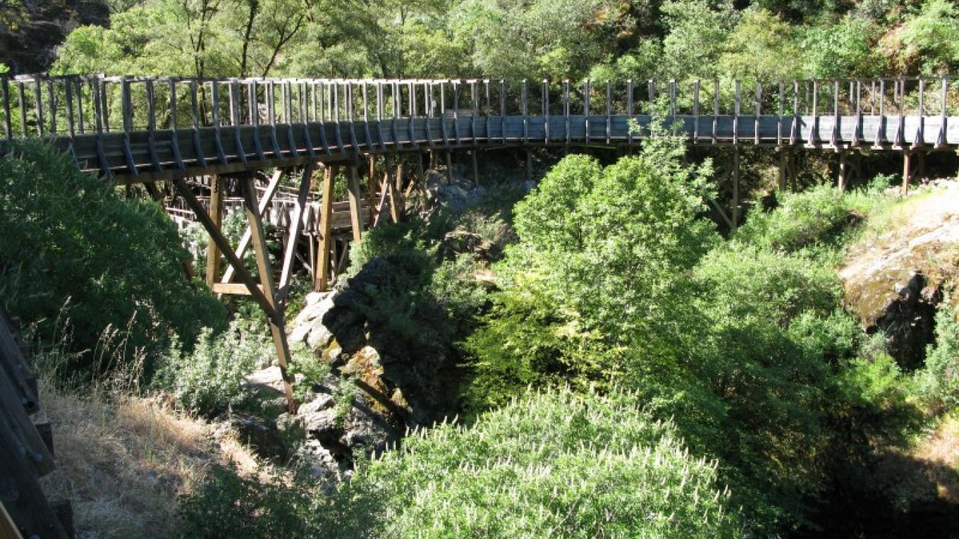 Independence Trail mining flume – Linda Chaplin