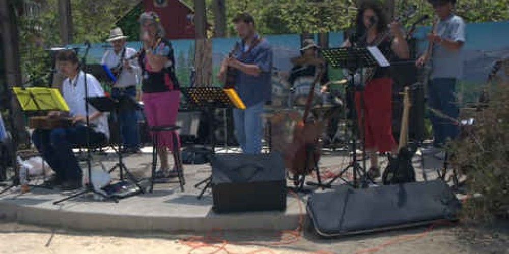 live music on one of the stages at the Butterfly Festival – Charles Phillips