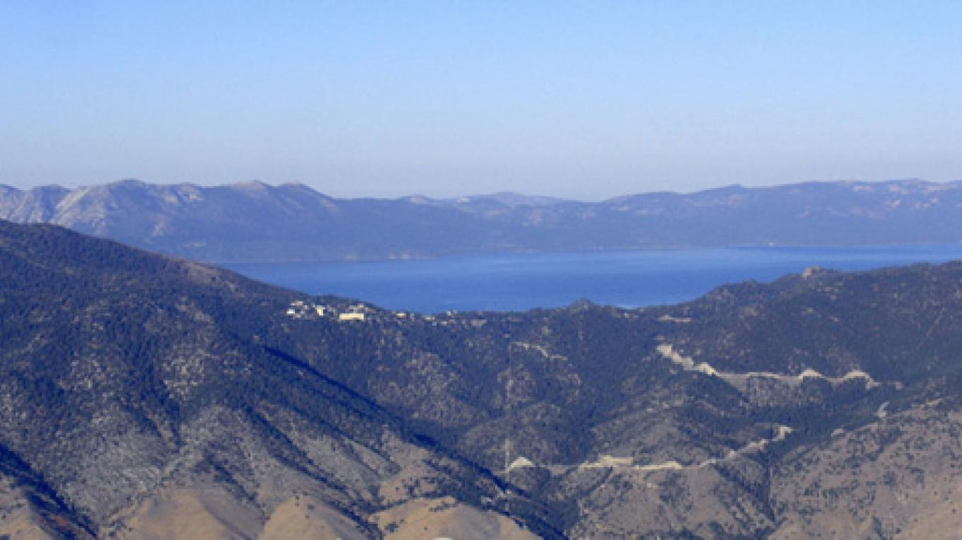 View of Lake Tahoe as seen from our balloon. – Whit Landvater