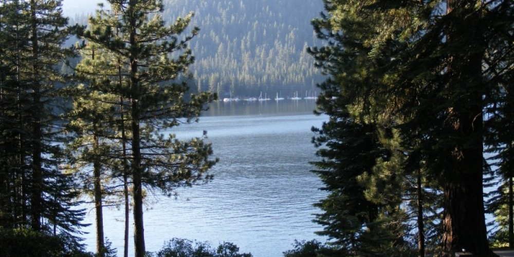 A view of the lake from Lakeview Cottages – Duane Ruth-Heffelbower